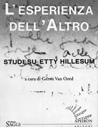 L-esperienza-dell-Altro-Studi-su-Etty-Hillesum-Gerrit-Van-Oord-a-cura-di-